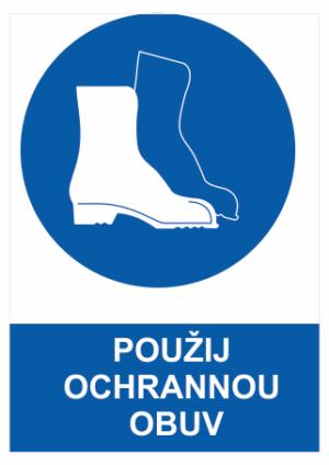 Bezpečnostné tabuľky Bezpečnostná obuv