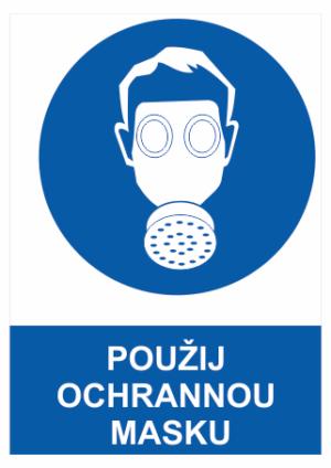 Bezpečnostné tabuľky Ochrana dýchacích ciest