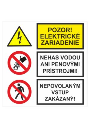 Bezpečnostné značky KOMBINOVANÉ
