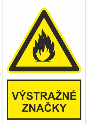 Bezpečnostné značky VÝSTRAŽNÉ