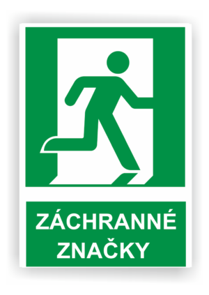 Bezpečnostné značky ZÁCHRANNÉ
